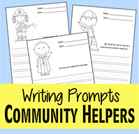 Community Helper Writing Prompts