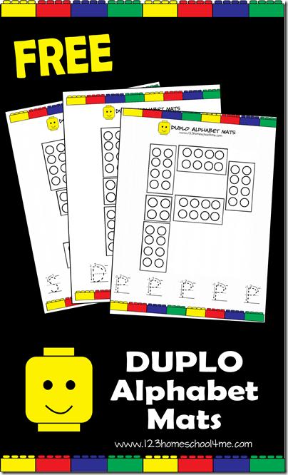 FREE Lego Duplo Alphabet Mats for Preschoolers #lego #alphabet #preschool