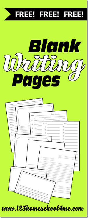 Worksheets for Kids - Free blank writing pages #handwriting #worksheets #homeschool #education