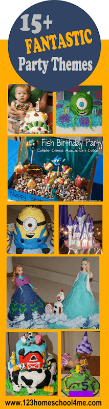 Over 15 fantastic birthday parties with lots of amazing cakes, games, decorations, and more