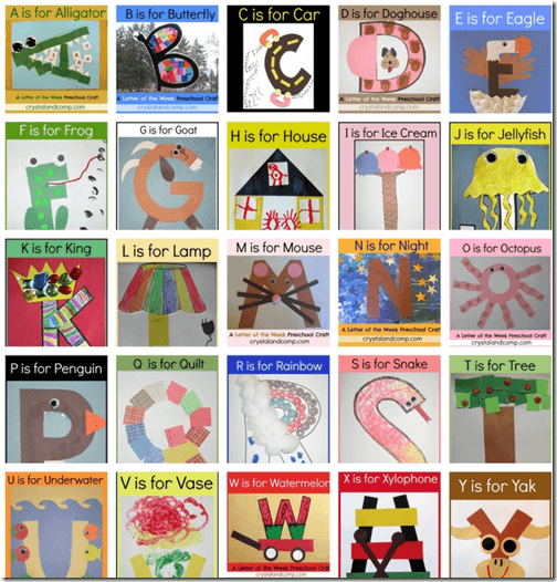 Letter of the Week Alphabet Crafts for Preschoolers