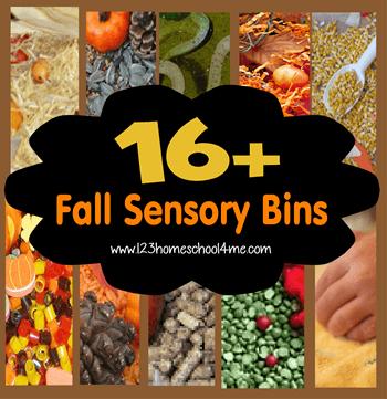 16 Fall Sensory Bins