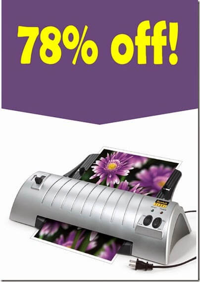 my favorite laminator is 78% off