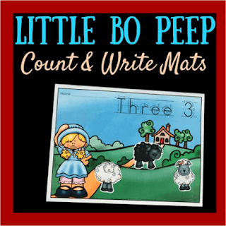 Little Bo Peep Counting and Writing Numbers