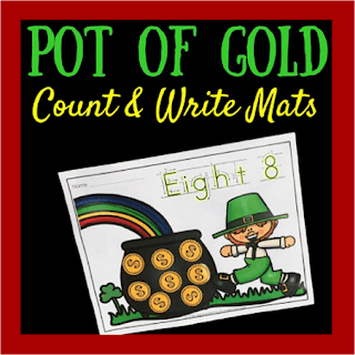 St. Patricks Day Counting and Writing Numbers
