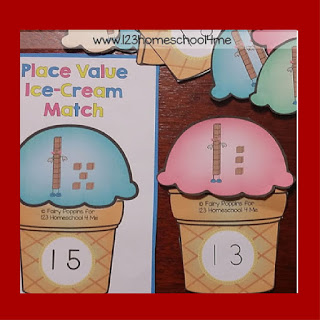 place value ice cream match (tens)