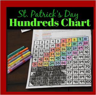 st patricks day hundreds chart