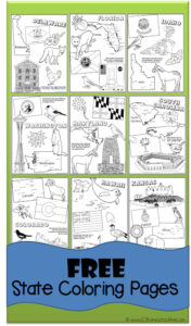 FREE Printable 50 Us States coloring pages