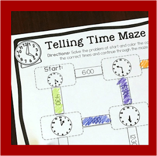 telling time mazes clock worksheets