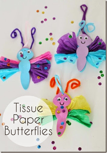Tissue Paper Butterfly Craft from In the Craft Room