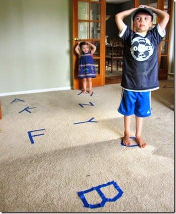 Gross Motor Alphabet Game for Kids #alphabet #preschool