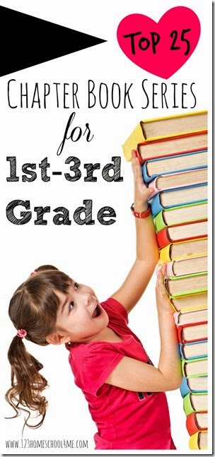 Top 25 chapter book series for first grade, 2nd grade, and 3rd grade. These are great series for summer reading to get kids excited about reading for reading clubs. #bookrecommendations #booklists #chapterbooks #chapterbooksforkids #firstgradebooks #2ndgradebooks #3rdgradebooks