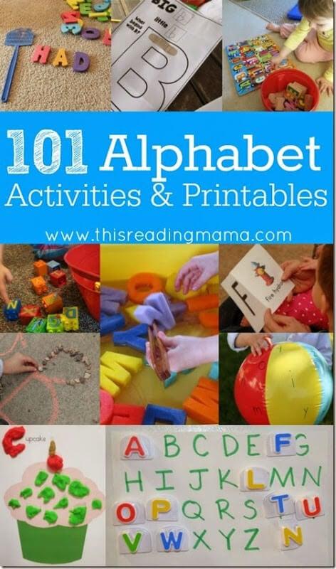 101 Alphabet Activities and Printables #alphabet #preschool #kindergarten