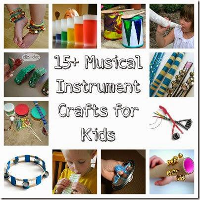15 musical crafts for kids #preschool #musiccrafts #kidsactivities