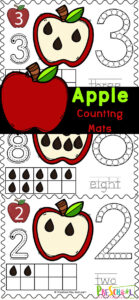 Celebrate apple month this September with these fun apple printables! Theseapple playdough matsallow children to practice counting and using a ten frame with the tactile addition of playdough! Use thesecounting playdough mats as anapple math for toddler, preschool, pre-k, and kindergarten age students. Simply printapple activities for preschoolers and you are ready to play and learn in yourapple theme.