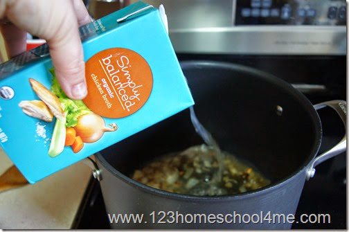 I recommend using organic chicken broth