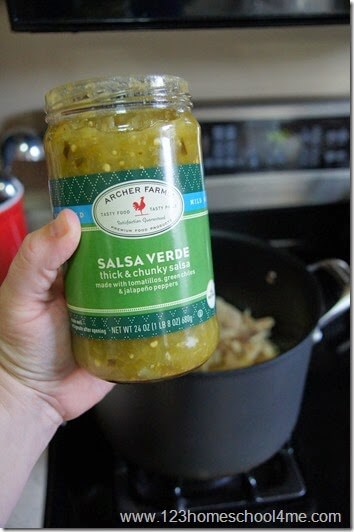 You can use pre made salsa verde or make your own