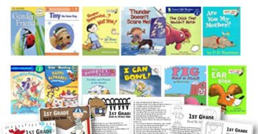 100 Books for 1st Graders to Read on their own (arranged by reading level) - includes FREE printable book list to print and take to the library and use as book mark. lots of great choices of printable and books!!! Perfect for summer reading and year round first grade book list! #1stgrade #firstgrade #booklists