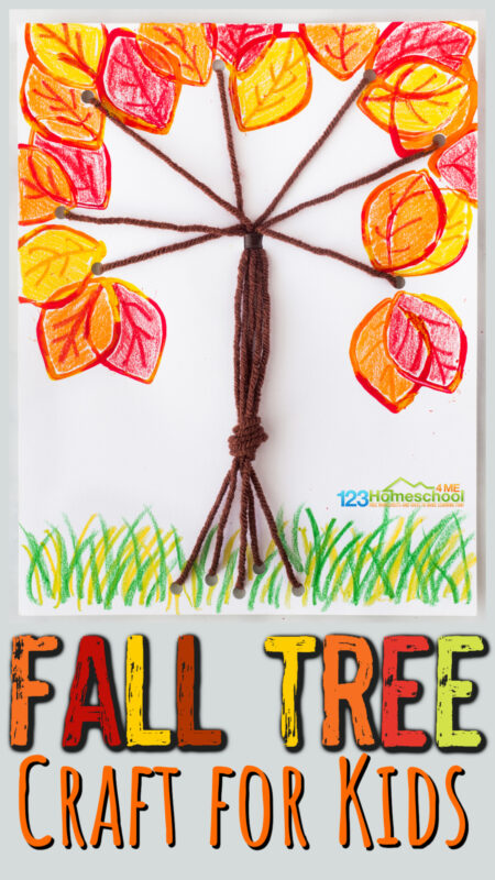 If you are looking for fun, easy fall crafts for kids of all ages - you will love thisfall tree craft. These fall craft ideas uses both yarn and a tp roll to create a pretty, unique fall tree with lots of colorful leaves. Thisautumn tree craft is perfect for preschool, pre-k, kindergarten, first grade, and 2nd graders too.