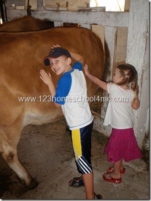Visiting a historic dairy farm