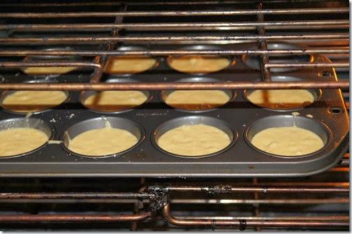Pumpkin Cloud Dough into Muffins