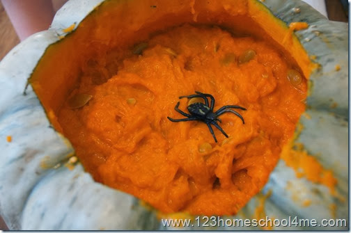 Pumpkin Activity - Hide and seek pumpkin goop