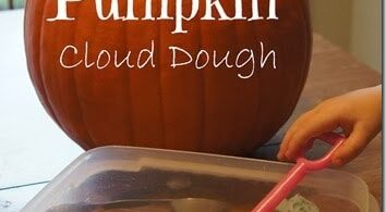 Pumpkin Cloud Dough Recipe