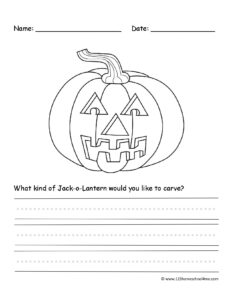 decorating a jack o lantern halloween writing prompt for october