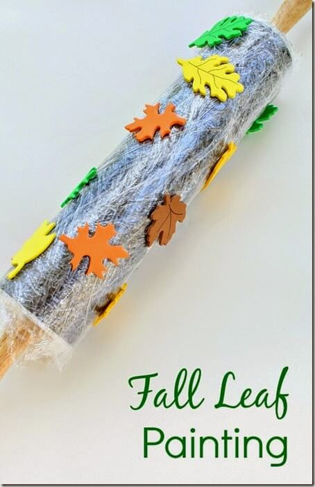 fall leaf printing kids activity #preschool #fall