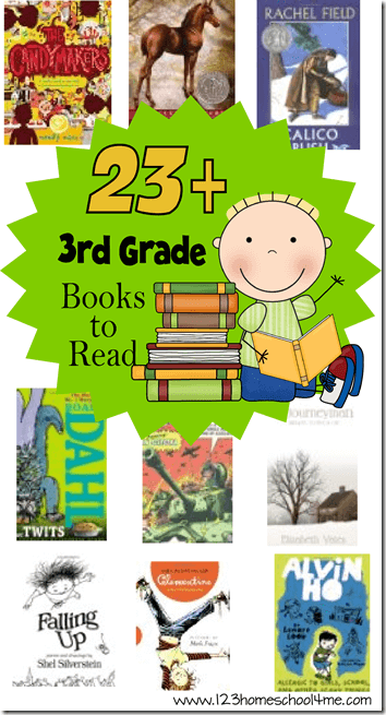 3rd Grade Reading List - This is perfect to order some great books for kids or to print and take to the library for thrid grade, grade 3 for homeschool, spring break, and summer reading.