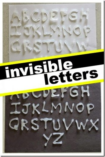 Learn your alphabet letters with invisible letters #preschool #alphabet #kindergarten