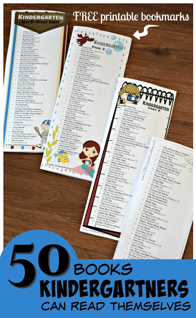 Looking for a list of great books for your Kindergartners to read? Here are over 50 books early readers can read themselves arranged by book level. In this Kindergarten Book List, we've even included a free printable kindergarten reading list in the pdf file downloadto take with you to the library.