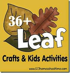 36 Leaf Crafts & Kids Activities