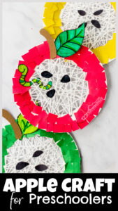 You've got to make this cute and fun-to-make paper plate apple craft for kids in Septembe! Perfect for preschoolers and kindergarten!