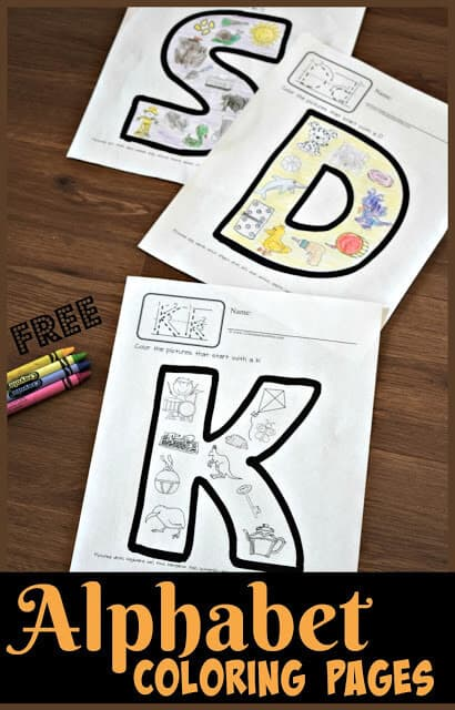FREE Alphabet Coloring Pages - super cute free printable phonics coloring sheets are a great tool for teaching toddler, preschool, prek, kindergarten age students their letters and the sounds they make. These alphabet printables work on beginning sounds, phonemic awareness, and more! #alphabetprintables #prek #kindergarten #homeschool
