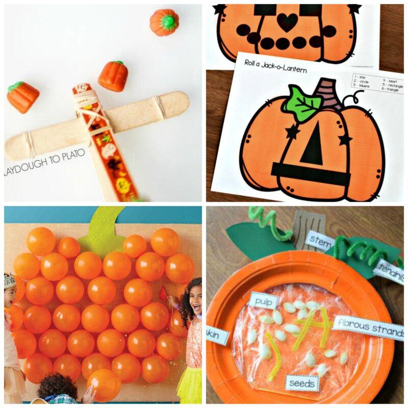 pumpkin games for kids to play in october