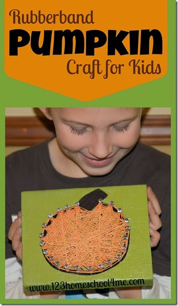 Rubberband Pumpkin Craft for Kids