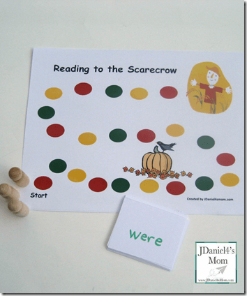 Free scarecrow reading game #sightwords #fall #homeschool #education
