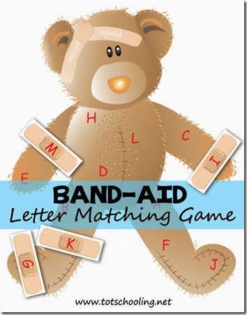 Band Aid Letter Matching Game #preschool #alphabet