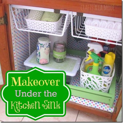 under sink kitchen makeover #momstuff #cleaning