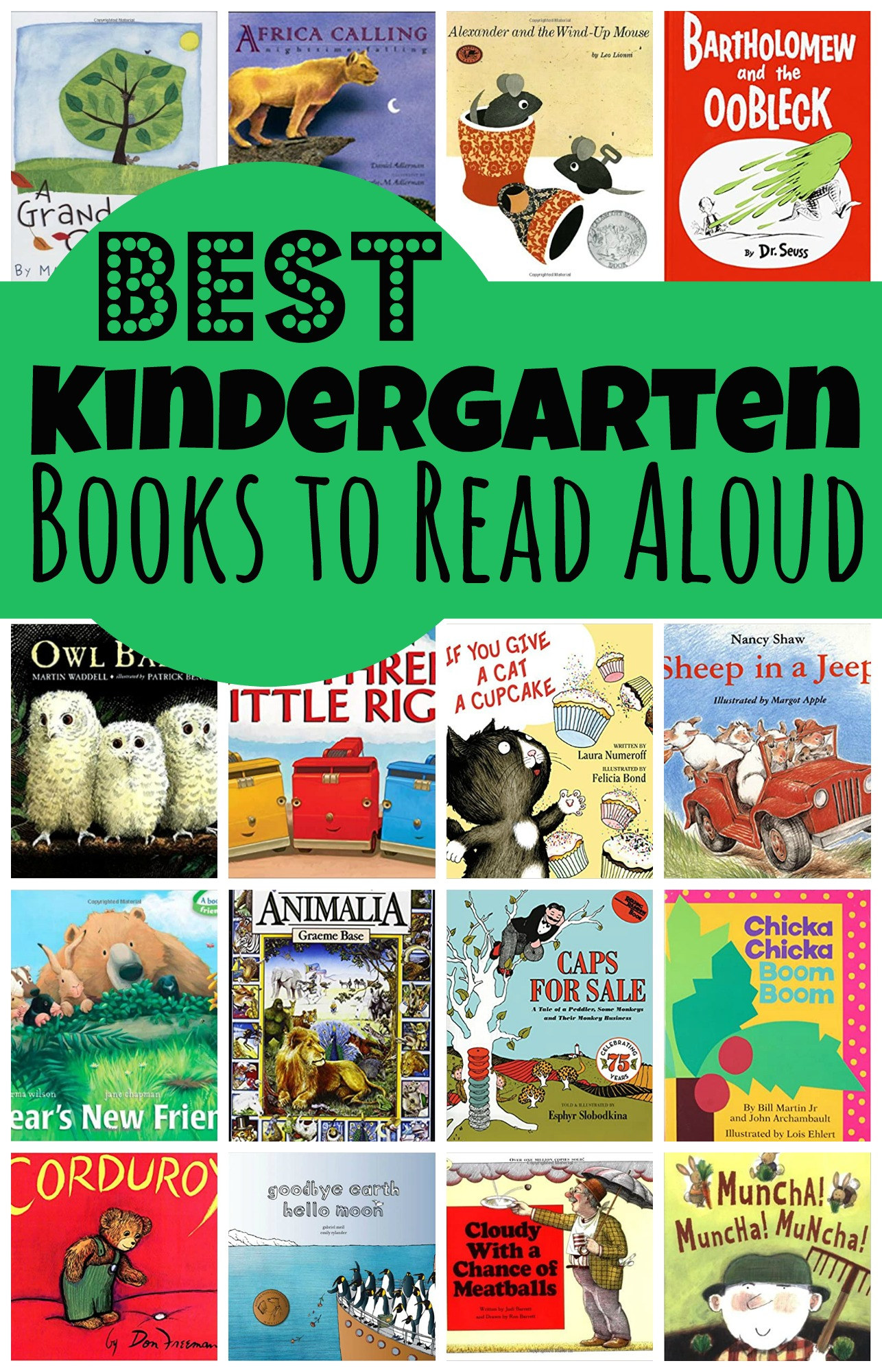 Looking for the best kindergarten books to read aloud, this book list is filled with great books you Kindergarteners will love to hear?  Just print the pdf file with the free printable kindergarten read alouds library book list to take with you to the library.