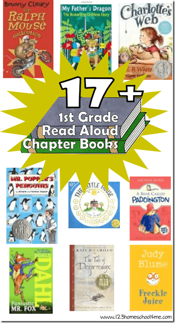 BEST Chapter Books for 1st Graders - first graders will love these read aloud 1st Grade Chapter Books> THese are great for helping kids learn to love reading, enrich vocabulary, and expand your students world #1stgradebooks #chapterbooks #bookrecomendations #booklists