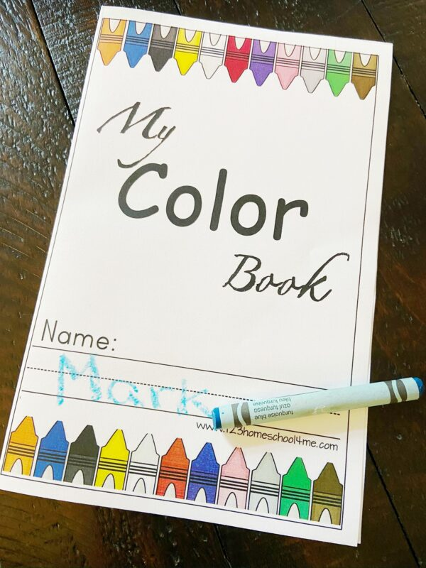super cute printable My Color Book for toddlers, preschoolers, pre k, and kindergartners learning their colors