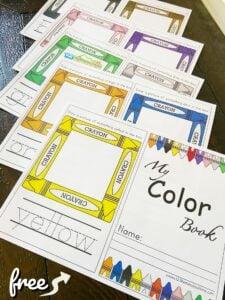 Preschool Color Book Printable