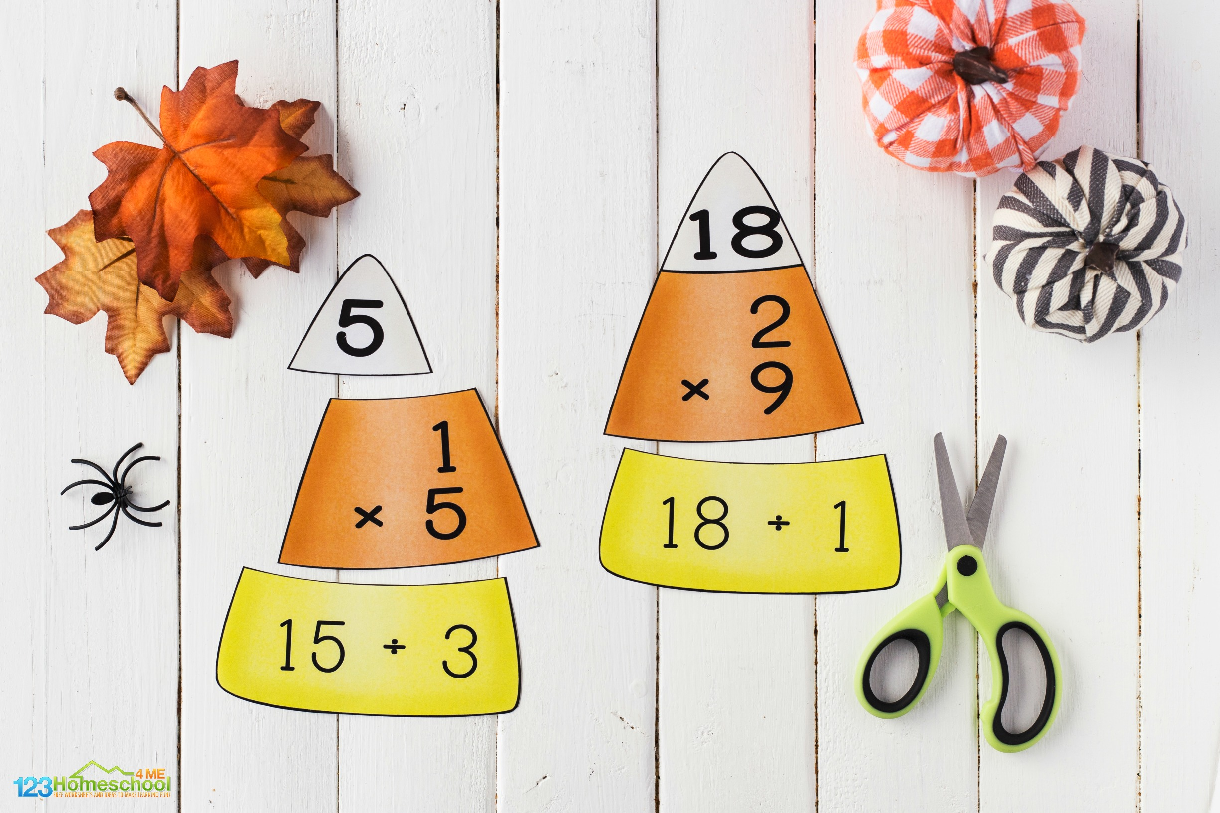free printable candy corn math 4th grade for improving math fluency with a fun multiplication activity for children
