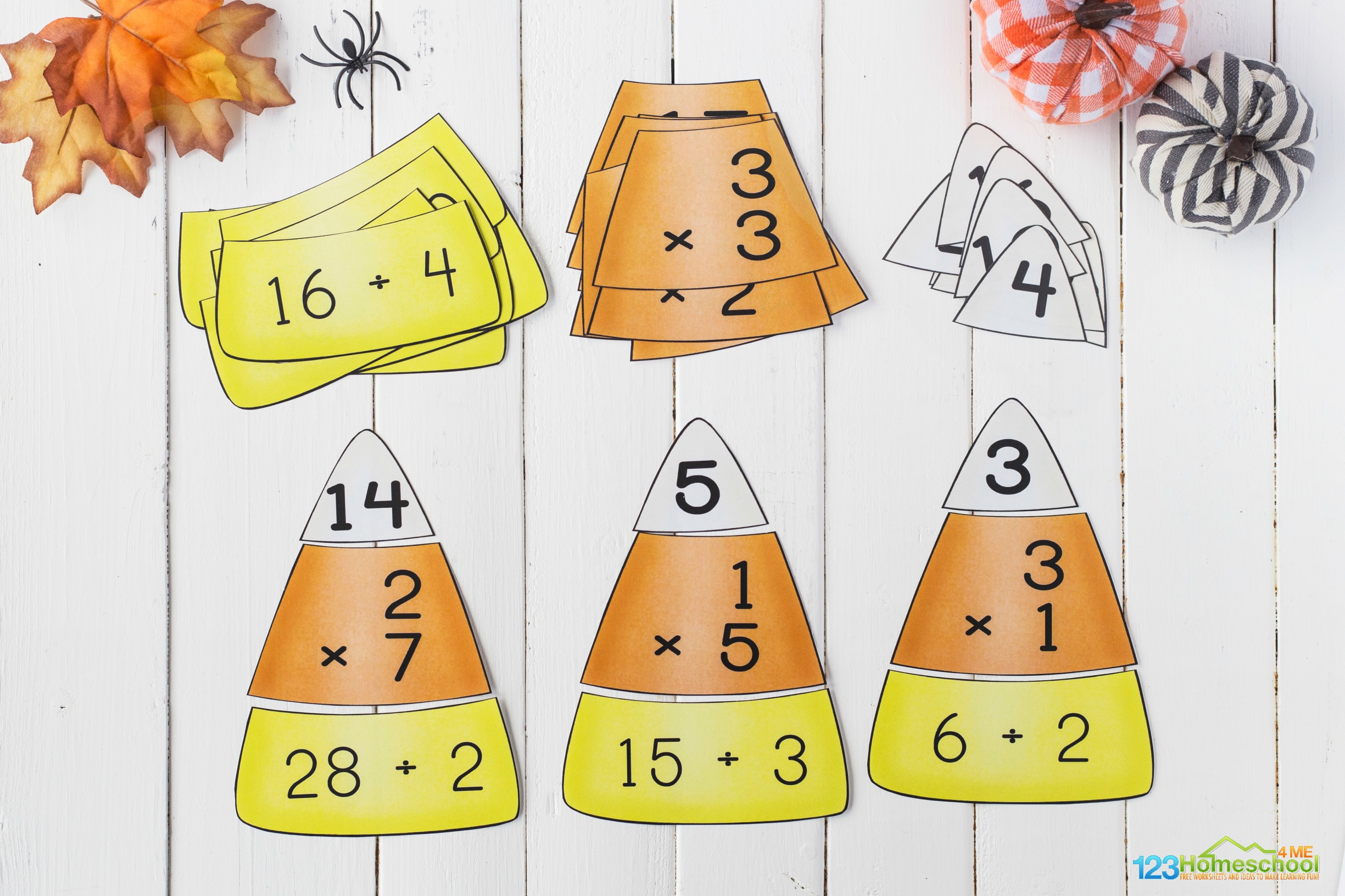 super cute, free printable, fall math activity