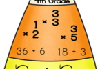 Candy Corn Multiplication & Division Puzzles