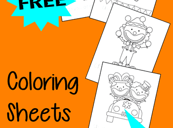 Circus Clown Coloring Sheets for Kids