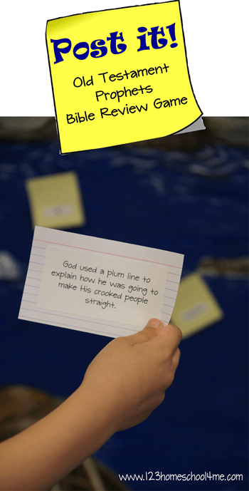 Post it! Old Testament Prophets Review Game | 123 Homeschool
