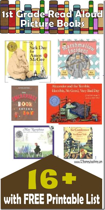 Favorite 1st Grade Picture Books 123 Homeschool 4 Me